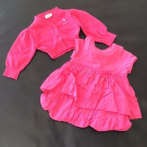 Taille Girls 3M -Bubble dress and shrug - Like new